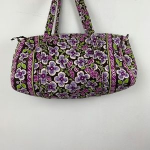 Vera Bradley Purple Floral Weekender Travel Bag